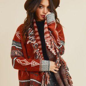 🎉🎉SALE🎉🎉Native Cowichan Blanket Sweater